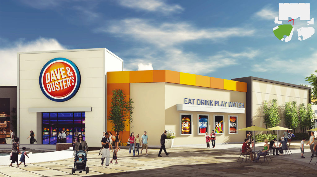 Long Beach Towne Center Dave & Buster's Rendering