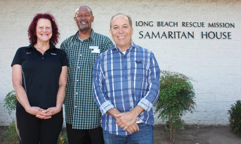 Kathy Fountain, Ed Robinson and Robert Probst, Long Beach Rescue Mission
