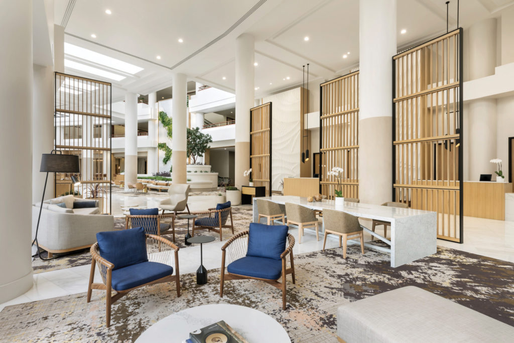 Westin Long Beach hotel lobby