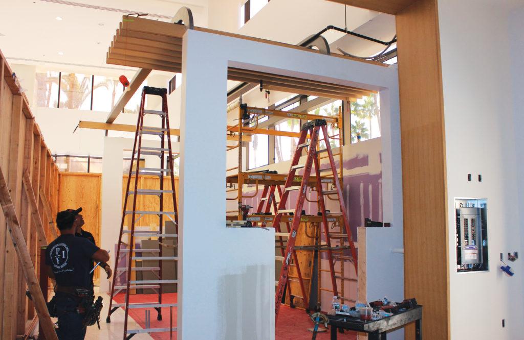 Bluestone Lane Cafe construction at Westin Long Beach